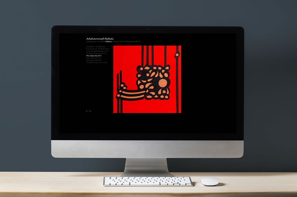 Personal Website for Mohammad Fadaei, Graphic Designer and Artist